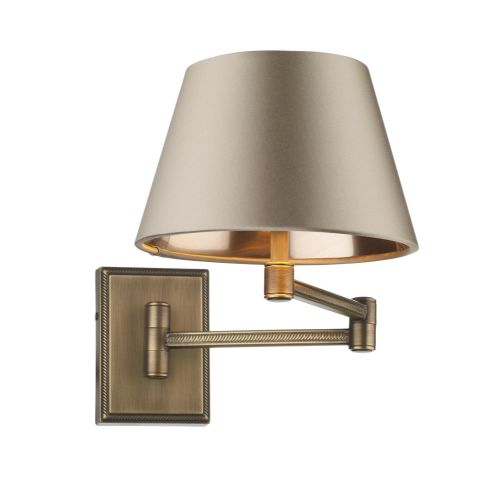 Pimlico wall light in antique brass with swivel arm, fitting only PIM0775 (7-10 day delivery)